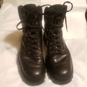 PRADA Lace-up Genuine Leather Boots Authentic